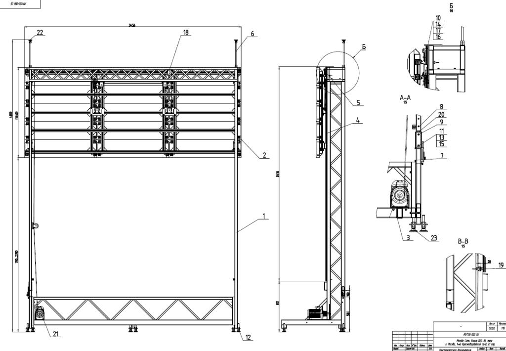 Специализированные лифты для больших экранов
