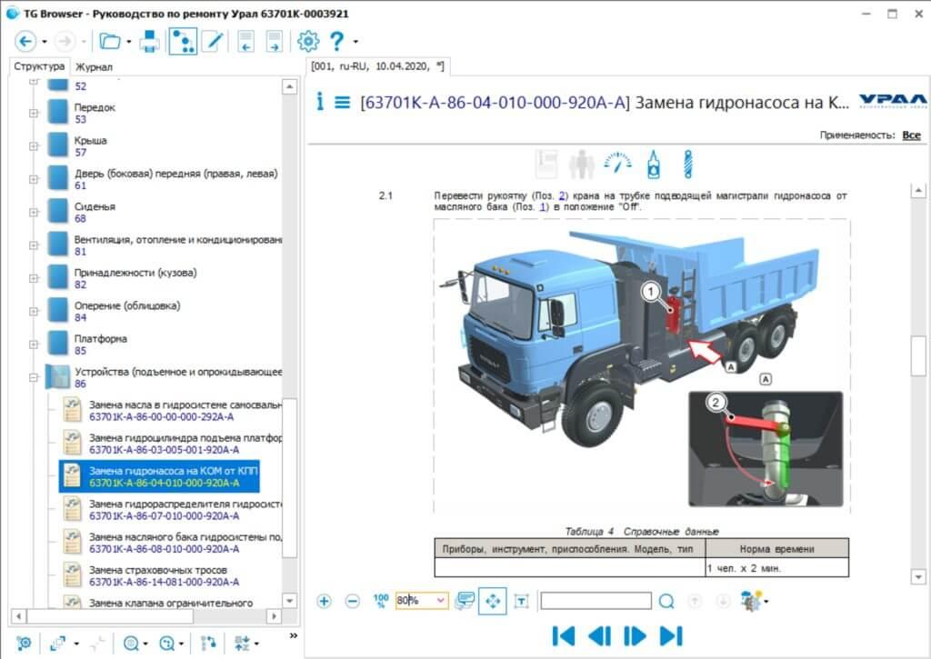 Разработка руководства по ремонту для АО «Автомобильный завод «УРАЛ»